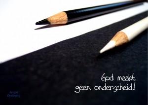 MA10025 Gospel Oneliner God maakt gen onderscheid