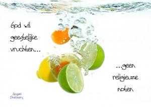 MA10042 Gospel Oneliner God wil geestelijke vruchten