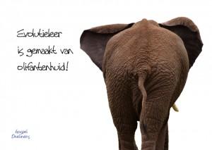 MA10055 Gospel Oneliner Evolutieleer is gemaakt van olifantenhuid